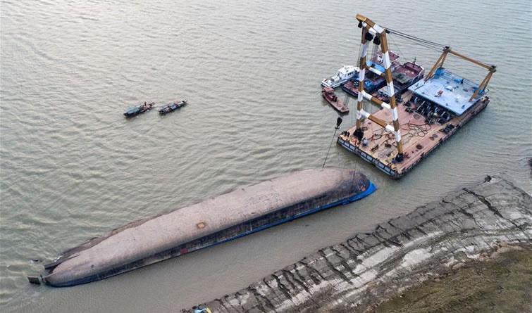 长江货船侧翻事故5名失踪人员名单公布
