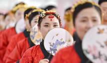 汉式集体婚礼迎新春