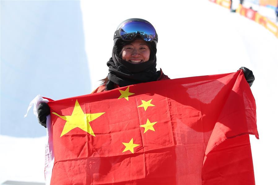 刘佳宇单板滑雪U型场摘银!中国收获平昌冬奥首枚奖牌