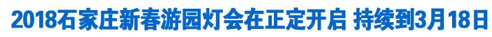 2018石家庄新春游园灯会在正定开启 持续到3月18日
