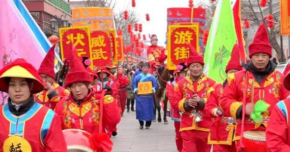 胜芳古镇传统庙会让百姓共享节日文化盛宴