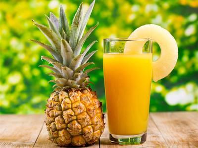 菠萝汁缓解咳嗽