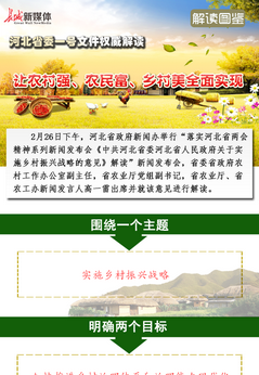 【解读图鉴】河北省委一号文件权威解读 让农村强、农民富、乡村美全面实现