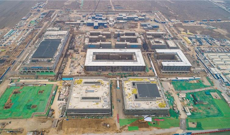 雄安市民服务中心项目主体结构完工