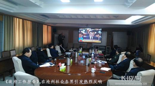 【百姓看两会】政策好 很解渴!<br>《政府工作报告》在沧州社会各界引发热烈反响
