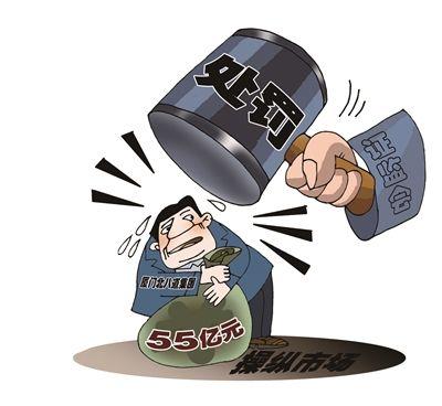 证监会开出中国证券史上最大罚单:55亿元