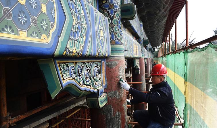 泰山启动岱庙天贶殿彩画修缮保护工程