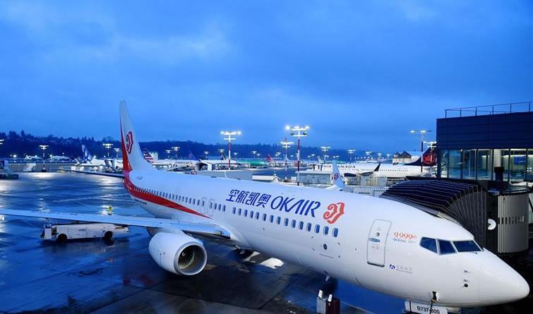 波音第9999架737飞机完成交付并飞往中国