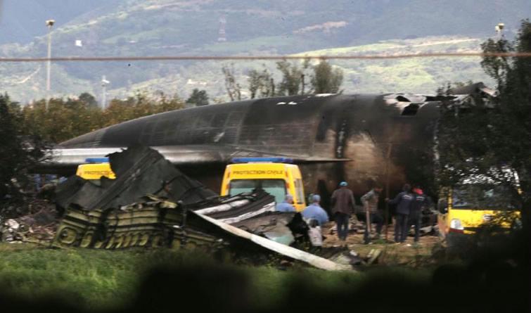 直击丨阿尔及利亚军机坠毁 257人遇难 现场惨烈