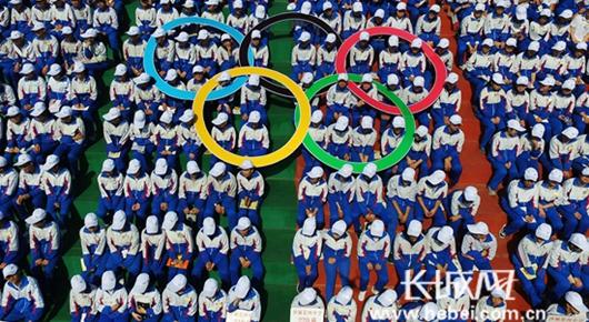 奥林匹克会旗走进张家口市怀来县