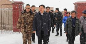 河北省环保厅厅长高建民冒雪督导精准扶贫工作