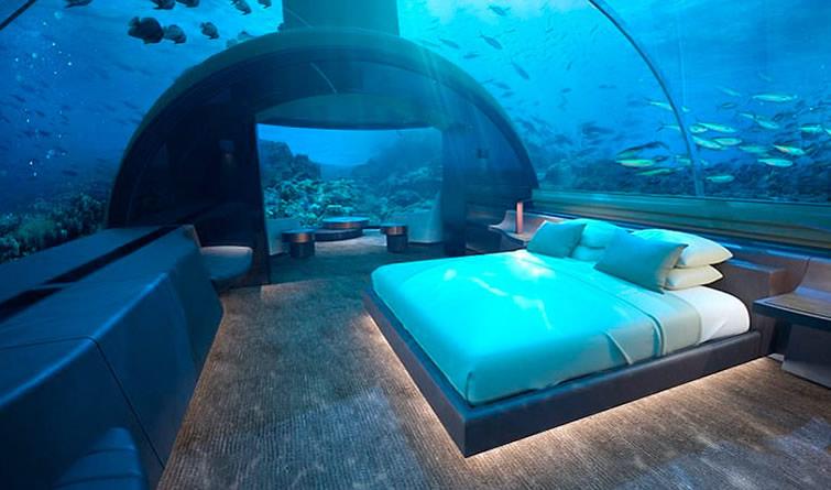 全球首座水下别墅将在马尔代夫建成 与鱼儿共眠