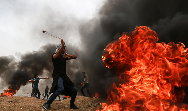 巴以冲突致千余名巴勒斯坦人受伤