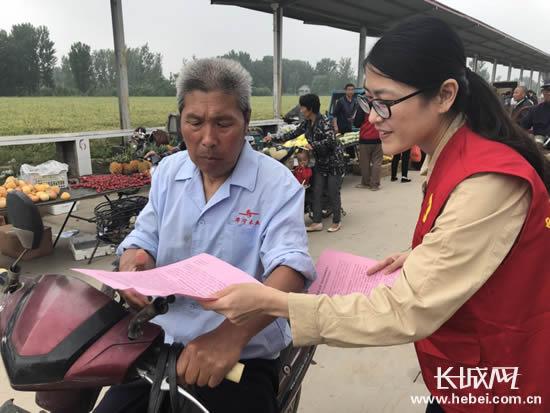"""衡水景县开展""""移风易俗进乡村 环保志愿运河行""""活动"""