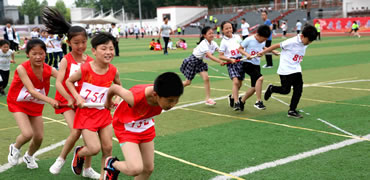 任县举办首届中小学大型田径趣味综合运动会