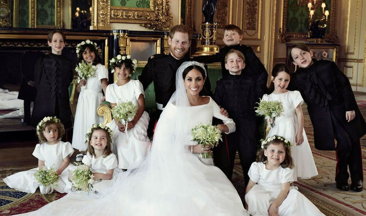 哈里王子大婚官方结婚照发布