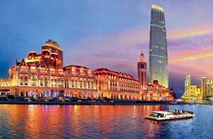 天津海河灯光夜景