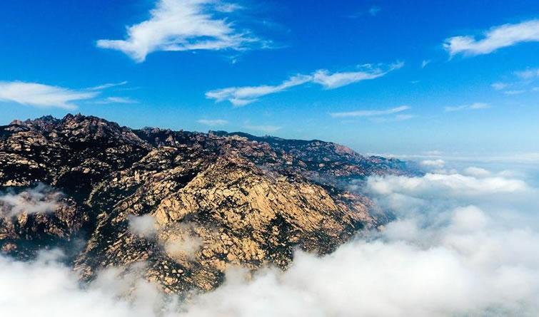 """鸟瞰海上""""第一名山""""——崂山"""