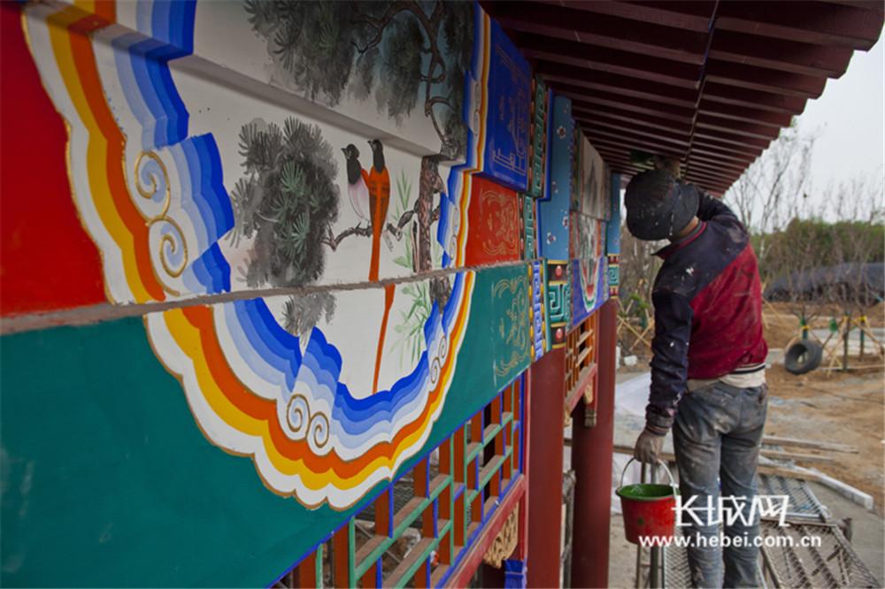 河北省第二届园林博览会展园彩绘工作进行时
