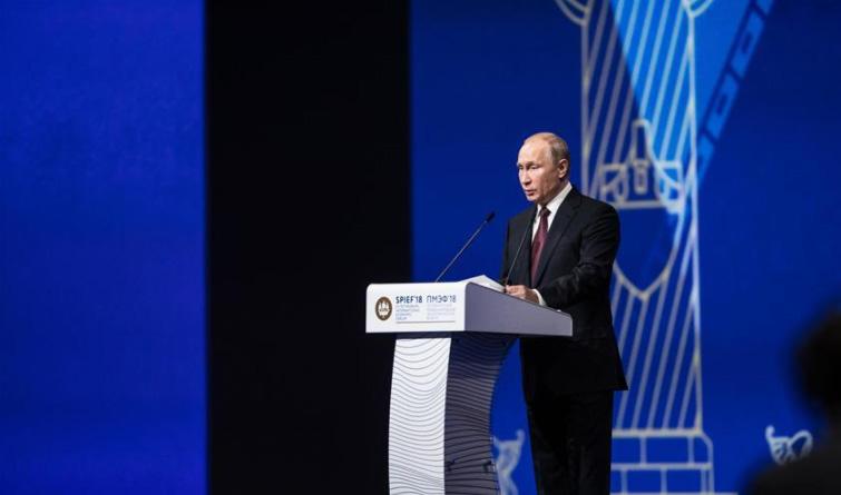 第二十二届圣彼得堡国际经济论坛举行全体会议