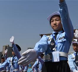 """""""我是小交警""""活动启动仪式在迁安市第六实验小学举行"""