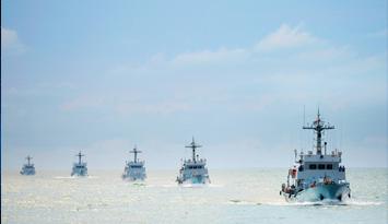 俯瞰南海舰阵,太震撼了!