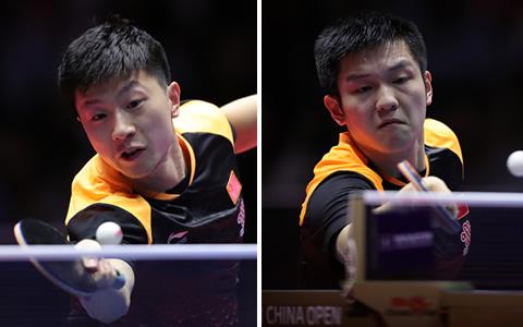 马龙与樊振东会师中国公开赛男单决赛