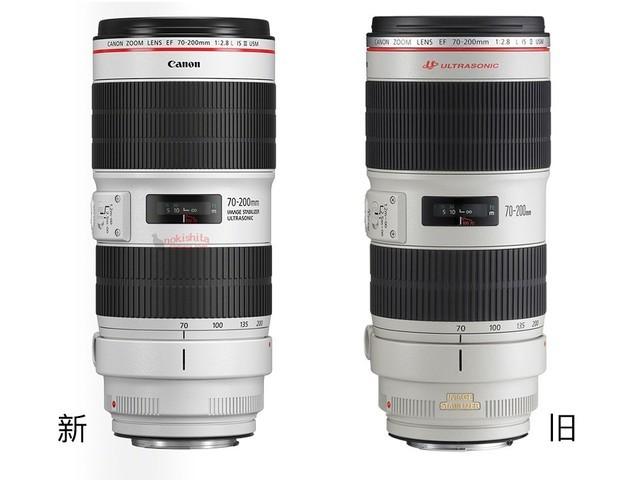 佳能新款70-200mm F2.8镜头外观曝光