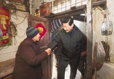 △2012年12月29日至30日,习近平总书记在河北省阜平县看望慰问困难群众