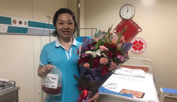 志愿者邵轩泽成功捐献造血干细胞