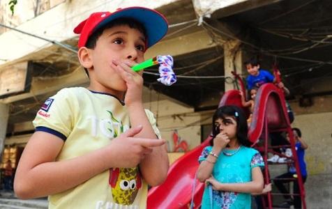 没有硝烟的节日——叙利亚东古塔居民欢度开斋节