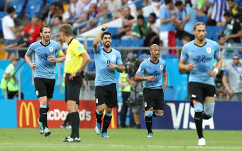 动感世界杯|苏亚雷斯百场破门 乌拉圭胜沙特提前晋级