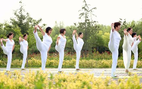 任县:夏至秀瑜伽