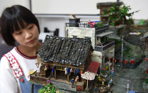 """湘妹子耗时三个月造出""""小重庆"""""""