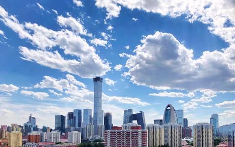 蓝天白云,刷出北京夏日高颜值
