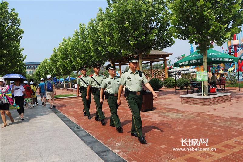 武警秦皇岛边防支队赤洋口边防官兵积极做好安保工作