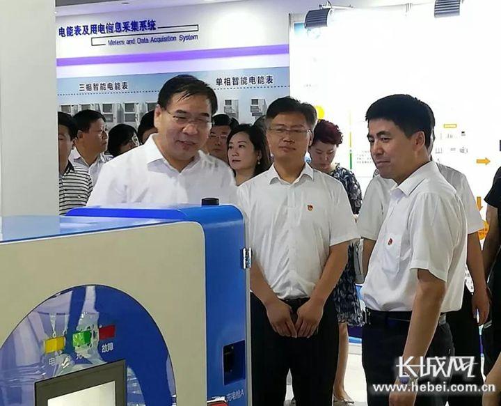 石家庄市非公企业党建工作观摩会日前在科林电气举行. 刘功书 摄图片