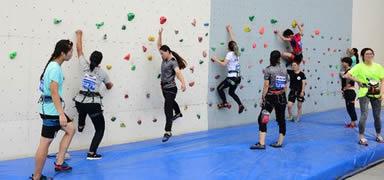 第十六届中国大学生攀岩锦标赛在高碑店开幕