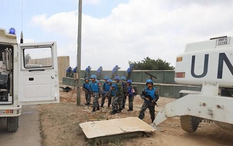 中国维和部队黎以边境开展应急演练