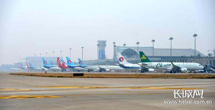 石家庄机场又迎新飞机,驻场运力达40架