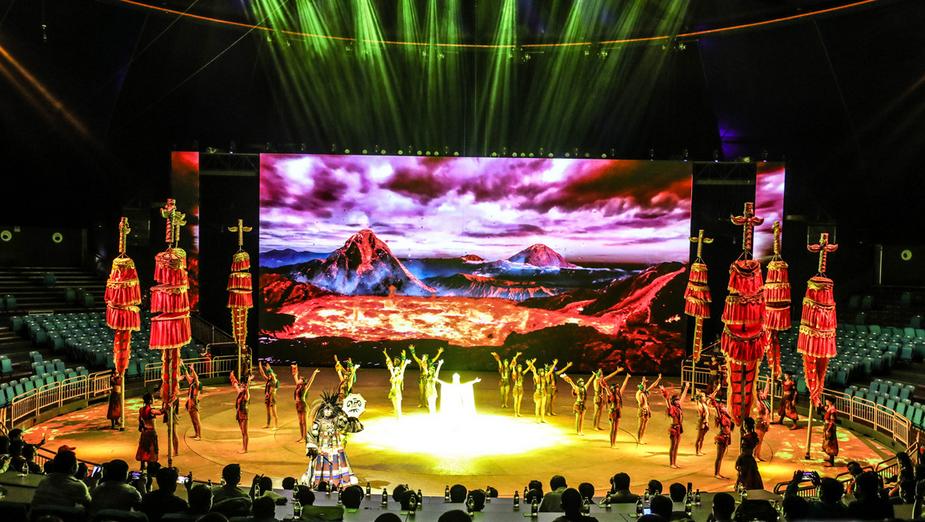 第三届河北省旅发大会闭幕式演出《满韵骑风》演绎清风满韵