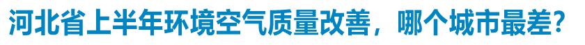 河北省上半年环境空气质量张家口最好 衡水改善幅度最大
