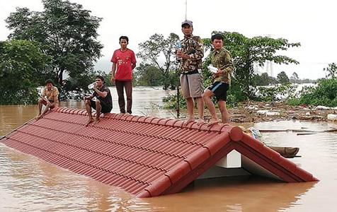 老挝南部一水电站溃坝致数百人失踪