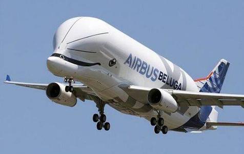 """空客""""超级大白鲸""""货机首飞:外形神似白鲸憨态可"""