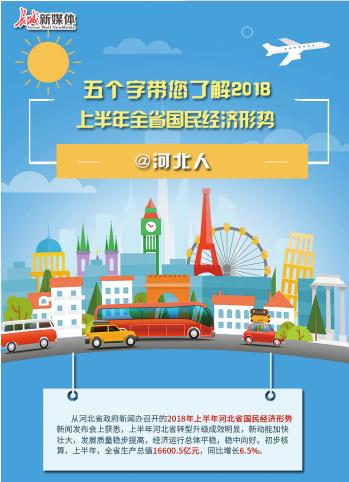【图解】@河北人 五个字带您了解2018上半年全省国民经济形势