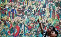 石家庄举办毗卢寺壁画艺术展