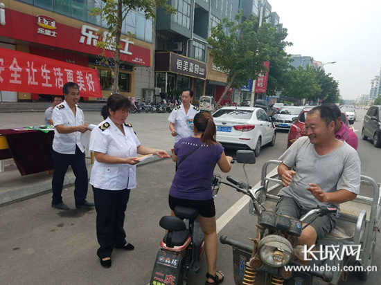 馆陶县开展食品安全宣传周活动