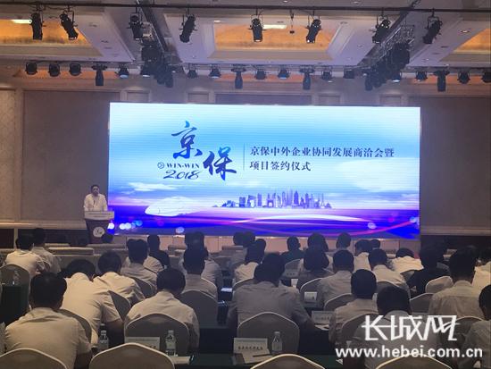 """北京组织20余家世界500强及知名企业保定""""相亲"""""""