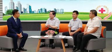 """""""最美红十字 博爱燕赵情""""网络直播访谈成功举办"""