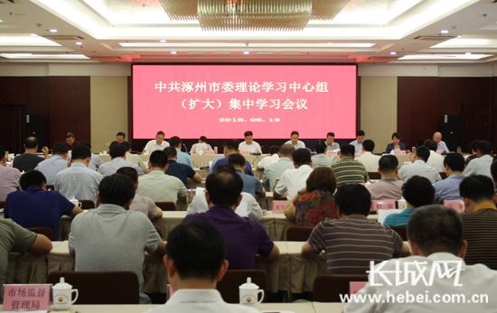 涿州市召开市委理论学习中心组学习会